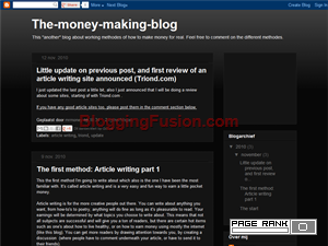 the money making blog Blogging Fusion Blog Directory