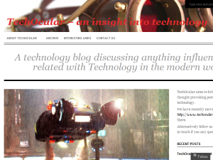 TechOcular - an insight into technology Blogging Fusion Blog Directory