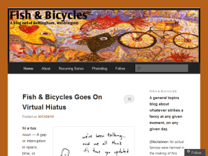 Fish & Bicycles: A Bellingham Blog