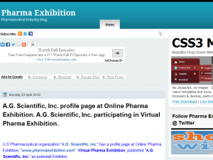 Pharma Exhibition Blogging Fusion Blog Directory