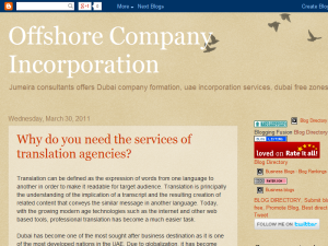 Dubai company formation, Uae incorporation services Blogging Fusion Blog Directory