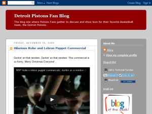 Detroit Pistons Fan Blog Blogging Fusion Blog Directory