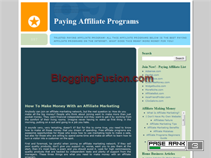 Paying Affiliate Programs Blogging Fusion Blog Directory