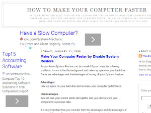 How To Make Your Computer Faster Blogging Fusion Blog Directory