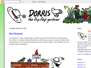 Dorris the Flip Flop Gardener Blogging Fusion Blog Directory