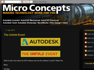 Micro Concepts Technical Blog Blogging Fusion Blog Directory