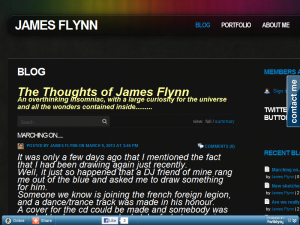 The thoughts of James Flynn Blogging Fusion Blog Directory