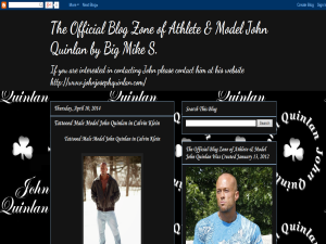 The Official Blog of Athlete & Model John Quinlan Blogging Fusion Blog Directory