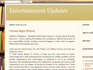 Entertainment Updates Blogging Fusion Blog Directory