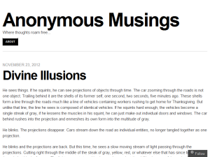 Anonymous Musings Blogging Fusion Blog Directory