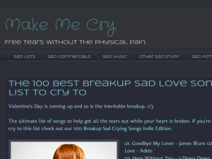 Make Me Cry Blogging Fusion Blog Directory