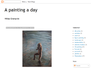 A painting a day Blogging Fusion Blog Directory