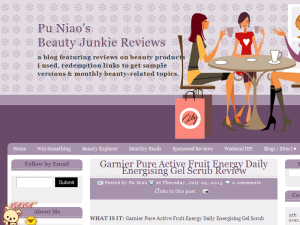 Pu Niao's Beauty Junkie Reviews Blogging Fusion Blog Directory