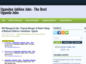 Ugandan Jobline Jobs Blogging Fusion Blog Directory
