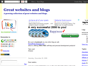 Great websites and blogs Blogging Fusion Blog Directory