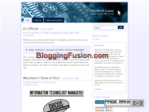 The Shell Game Blogging Fusion Blog Directory