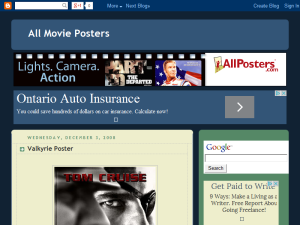 All Movie Posters Blogging Fusion Blog Directory