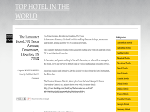 TOP HOTEL IN THE WORLD Blogging Fusion Blog Directory