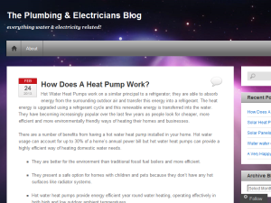The Plumbing & Electricians Blog Blogging Fusion Blog Directory