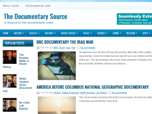 The Documentary Source Blogging Fusion Blog Directory