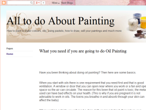 All to do About Painting Blogging Fusion Blog Directory