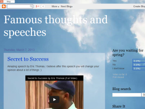 Famous thoughts and speeches