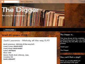 The Digger - Only Vinyls Blogging Fusion Blog Directory