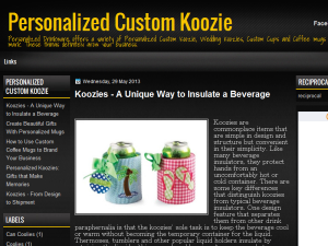 The Top Advantages of Personalized Koozies Blogging Fusion Blog Directory