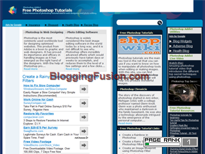 Free Photoshop tutorials Blogging Fusion Blog Directory