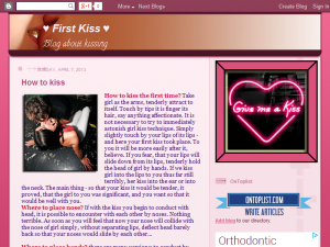 First Kiss Blogging Fusion Blog Directory