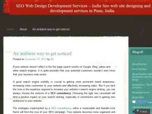 SEO Web Design Development Services Blogging Fusion Blog Directory