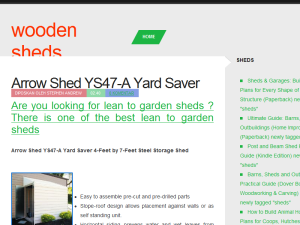 Wooden Sheds Blogging Fusion Blog Directory