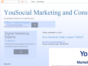 YouSocial Marketing and Consulting Blogging Fusion Blog Directory