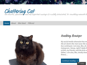 Chattering Cat Blogging Fusion Blog Directory