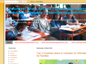 Volunteer Work Opportunities Abroad Blogging Fusion Blog Directory