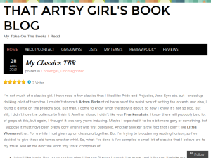 That Artsy Girl's Book Blog