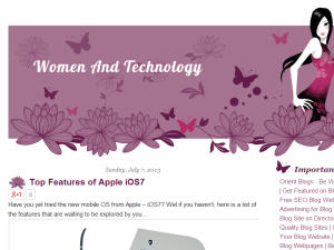 Women and Technology Blogging Fusion Blog Directory