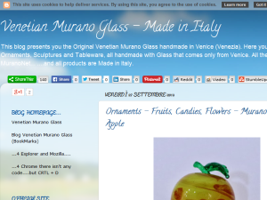 Venetian Murano Glass - Made in Italy Blogging Fusion Blog Directory