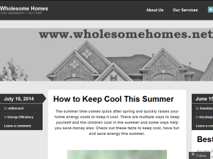 Wholesome Homes Blogging Fusion Blog Directory
