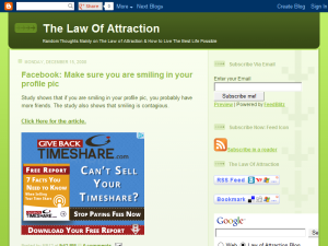 Law of Attraction Blog...Find Success and Happiness Blogging Fusion Blog Directory