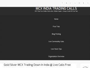 MCX INDIA STOCK TRADING CALLS Blogging Fusion Blog Directory