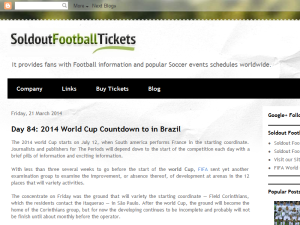 Soldout Football Tickets BS Blogging Fusion Blog Directory