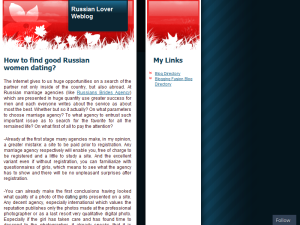 Russian Lover's Blog Blogging Fusion Blog Directory