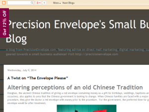 Precision Envelope's Small Business Blog Blogging Fusion Blog Directory