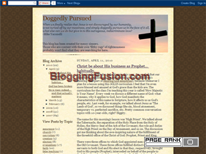 Doggedly Pursued Blogging Fusion Blog Directory