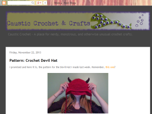 Caustic Crochet Blogging Fusion Blog Directory