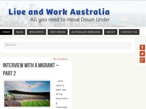 Live and Work Australia Blogging Fusion Blog Directory