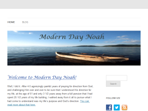 Modern Day Noah Blogging Fusion Blog Directory