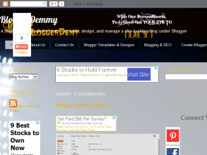 Bloggerdemmy Blogging Fusion Blog Directory