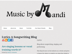 Lyrics, A Songwriting Blog